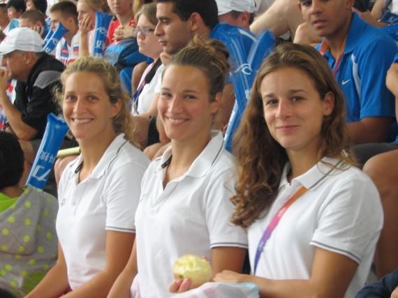 A magyar csapat a Shanghai Világkupán - Kormos Villő, Reisinger Zsófia és Gondos Flóra